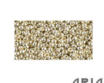 DURACOAT SILVER (4201): 11/o Miyuki Japanese Seed Beads (10 grams)