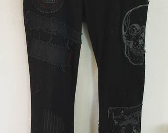 Classic Horror jeans by Chad Cherry