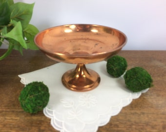 Copper Compote *FREE SHIPPING* Copper Pedestal Candy Dish