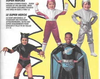 SUPER HEROES of the UNIVERSE McCall's Costumes Pattern 7341 Boys/Girls' Sizes 5-6