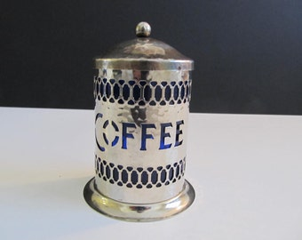 Coffee Canisters, Coffee Canister, Leonard Coffee Canister, England, England Coffee Canister, Silver Plated Coffee Canisters, Silver
