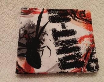 Ant-Man wallet, fabric wallet, bi-fold wallet.