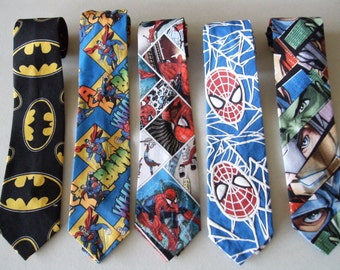 Super Hero Children's  Neckties