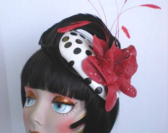 Leather Floral Fascinator Headband