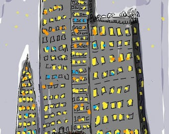 High rise London