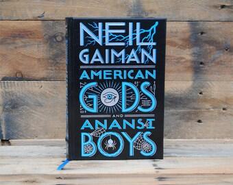 Book Safe - American Gods - Black Leather Bound Hollow Book Safe