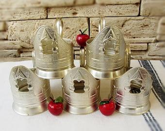 Vintage Russian Tea Glass Hoders Set of 5 Soviet tea cup Russian podstakannic Retro kitchen  USSR 70s Vintage serving Tea time  Church