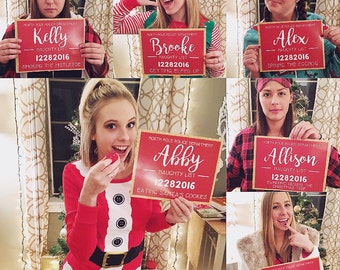 Printable Christmas Party Photo booth Mugshot Jail Signs