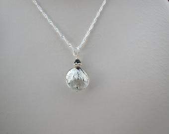 Black & White Gold Murano Glass Necklace