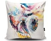 Westie Cushion, Westie Pillow, West Highland Terrier Cushion, West Highland White Terrier Pillow, Westie Gift, Dog Cushion, Watercolour Art