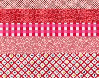Chiyogami Paper Set red/pink