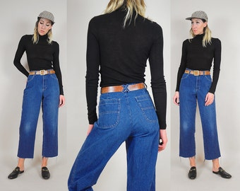 90's Pinstriped Wide Leg Jeans