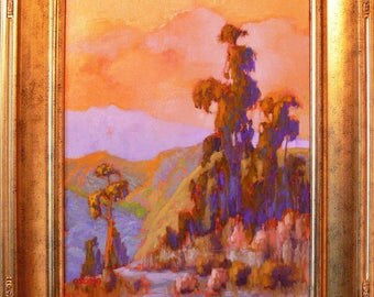 Santa Barbara Back Country Landscape.  oil painting By listed artist James Osorio. California Plein Air, Impressionism