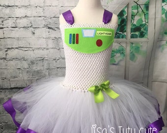 Buzz tutu, Buzz dress, Buzz tutu dress, Buzz Lightyear tutu, Buzz Lightyear tutu dress, Buzz Lightyear costume, WINGS INCLUDED