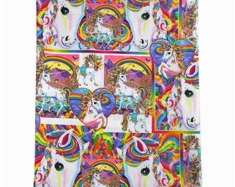 unicorns and rainbows fabric