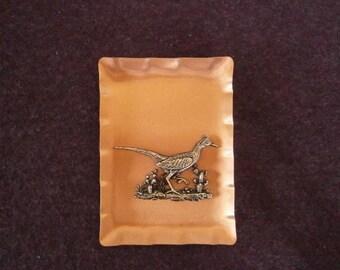 Sale 20 Off Roadrunner Copper Vintage Arts & Crafts Plaque Wall Hanging German