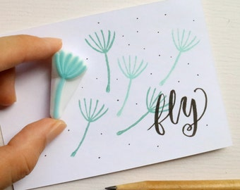 Dandelion Stalk rubber stamp