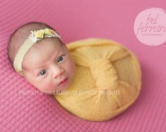 Knit Wrap, Newborn Knit Wrap, Stretch Wrap, Yellow Knit Wrap, Yellow Newborn Wrap, Photography Knit Wrap, Photography Prop, Newborn Prop