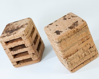 Natural cork stool