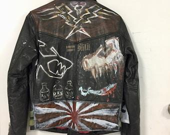 Hand Painted Neuw Leather Jacket
