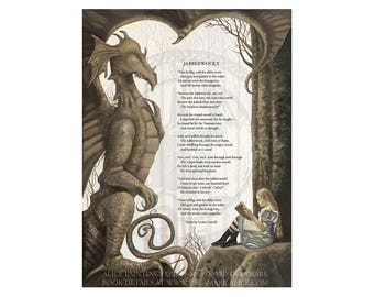 "Jabberwocky Poem : Alice in Wonderland 18""x24"" Giclée Print by David Delamare"