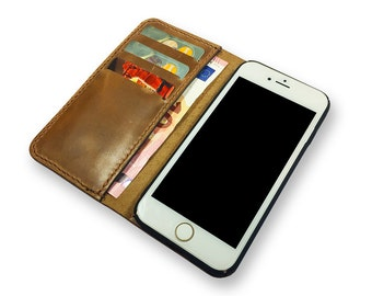 Leather iPhone 7 case wallet  - iPhone 7 Plus wallet case - Personalized iPhone 7 wallet