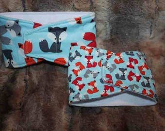 Male Dog Diapers / Belly band / male wrap / Waterproof / FOX or MINI FOX print