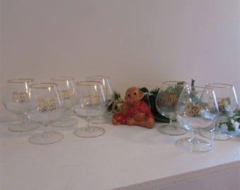 Vintage Barware, Mumm V.S.O.P, Cognac Glass, Snifter Glasses, Vintage Glassware, Stem Glassware, Liquor Glasses, Barware Gift, Wedding Gift