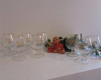 Vintage Barware, Mumm V.S.O.P, Cognac Glass, Snifter Glasses, Vintage Glassware, Stem Glassware, Liquor Glasses, Barware Gift, Wedding Gift