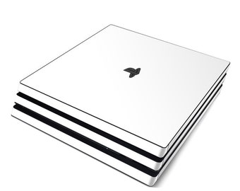 Sony PS4 Pro Skin Kit - Solid White - Sticker Decal Wrap