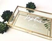 Personalized Glass Box Customized Jewelry Box / Bridesmaid Gift / Personalized Gift / Maid of Honor baby keepsake box Birthday