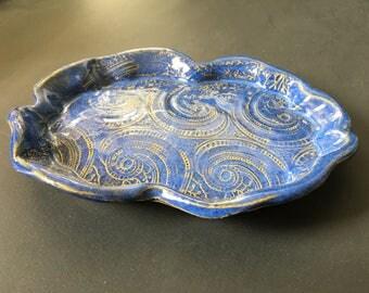 Jewelry Tray-Blue Paisley Tray-Jewelry Tray