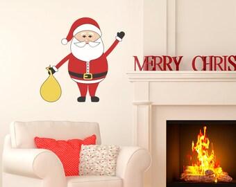 Santa Christmas Wall Sticker