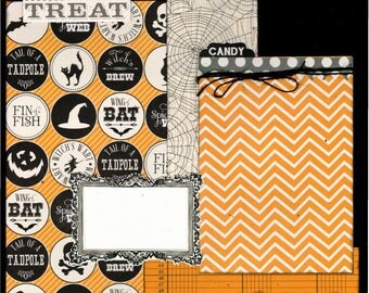 Trick or Treat Halloween, 2 Page Scrapbooking Layout Kit