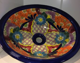 Colorful Talavera Sink - Free Shipping