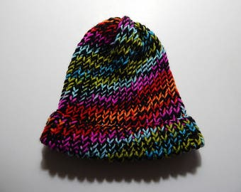 """Multi Color Adult Small 21"""" Thick Knit Winter Cap Hat"""