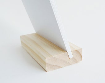3 x Wood Block Stands (Large) for Cards + Photos + Prints