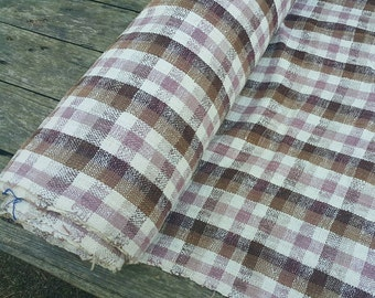 hand woven natural dyed cotton fabric by the meter (HTH29)
