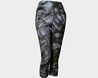Gray Capris/Capri Pants/Fashion Capris/Wearable Art/Made to Order