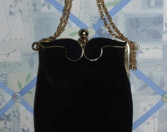 Vintage Black Evening Bag by Triangle