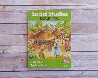 Vintage History Workbook Kids Book Liberia Social Studies Neighborhood Kids Non Fiction Africa History Lime Green Book Africa Book for Kids