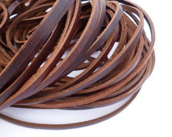 Brown  Leather Cord_CP541387231_Cords_Natural Leather of 5x2 mm_5 meters_16 ft