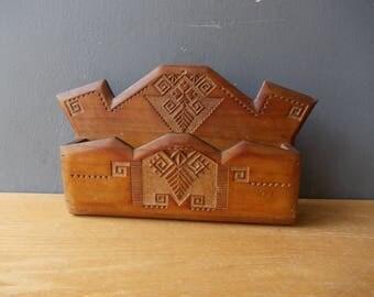 Vintage Wooden Box / Antique Box / Rustic FOLK Decor / Organizer / Tool Box / Home Decor / Box for Herbs / Storage / Tray / Crate