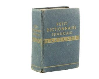 Larousse Dictionary, 1936 Petit Dictionnaire Francais, Collectible Dictionary, Paper Ephemera, Alphabet Pages