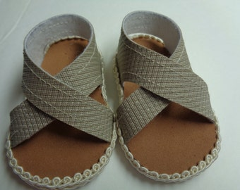 """18""""  Doll Sandals -Light Brown Doll Sandals-Shown on my american girl doll"""