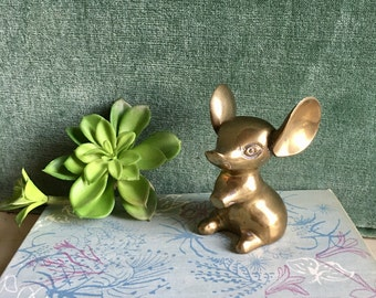 Vintage Brass Mouse, Mouse Collector, Cottage Chic