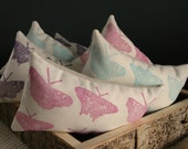 Special Edition Hand Printed Butterfly Print Lavender and Chamomile Herbal Sleep Aid Pillow