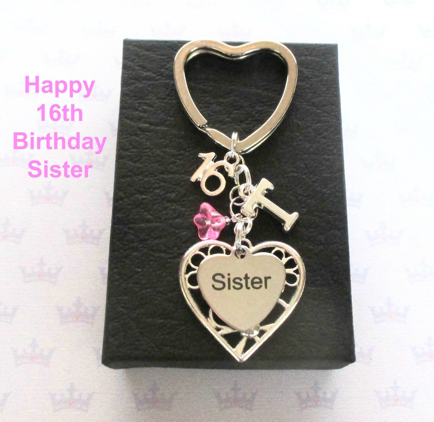 Sister 16th Birthday Gift 16th Keychain Sister Gift