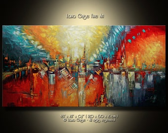 Made-to-Order, ABSTRACT Painting Modern Textured Palette Knife by Lana Guise