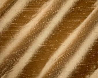 "SHEEPSKIN -   Pure Silk Dupioni Fabric - Handwoven - 54"" Wide By The yard"